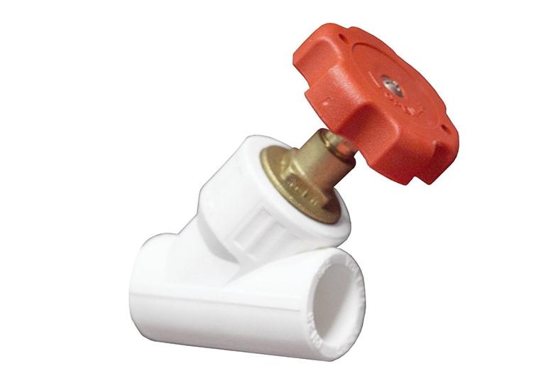 Вентиль полипропиленовый 45° (внутр.-внутр.)