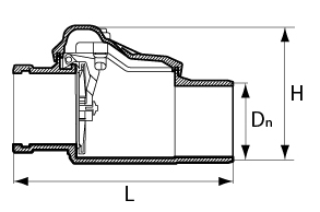 Обратный клапан НПВХ схема