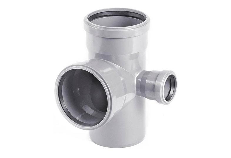 Крестовины ПВХ двухплоскостные 87° для внутренней канализации
