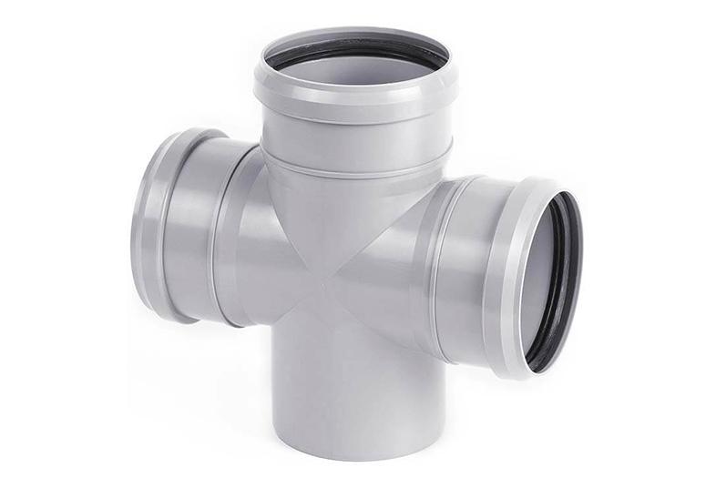 Крестовины ПВХ одноплоские 45/87° для внутренней канализации