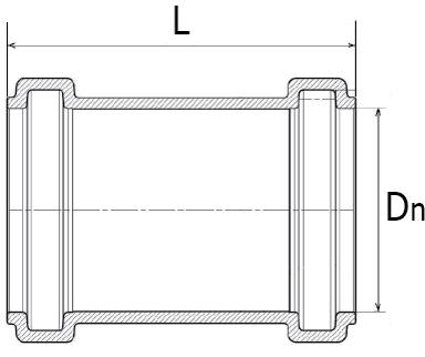 Муфты НПВХ Хемкор наружные надвижные ремонтные схема