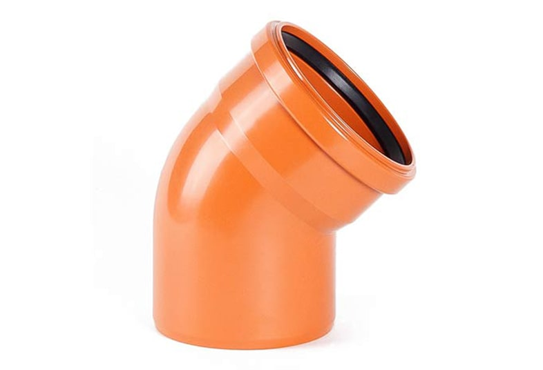 Отводы ПВХ для наружной канализации