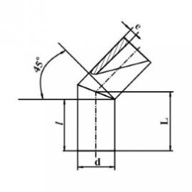 Отвод сварной 45° двухсекционный