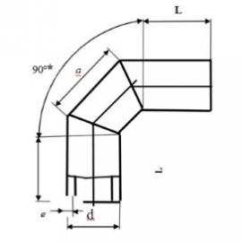 Отвод сварной 90° трехсекционный схема