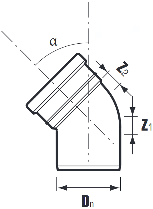 Отводы ПВХ для наружной канализации схема
