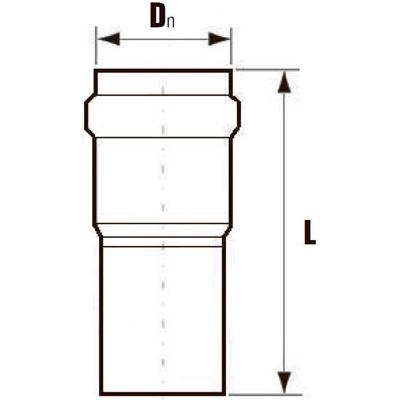 Компенсационный патрубок ПВХ схема