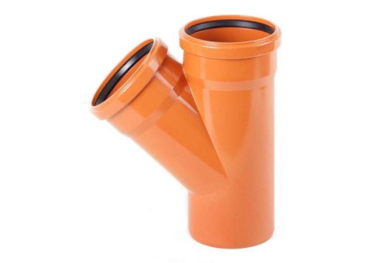 Тройники НПВХ Хемкор 45° наружные для канализационных труб