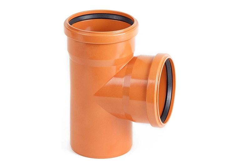 Тройники НПВХ 87° наружные для канализационных труб