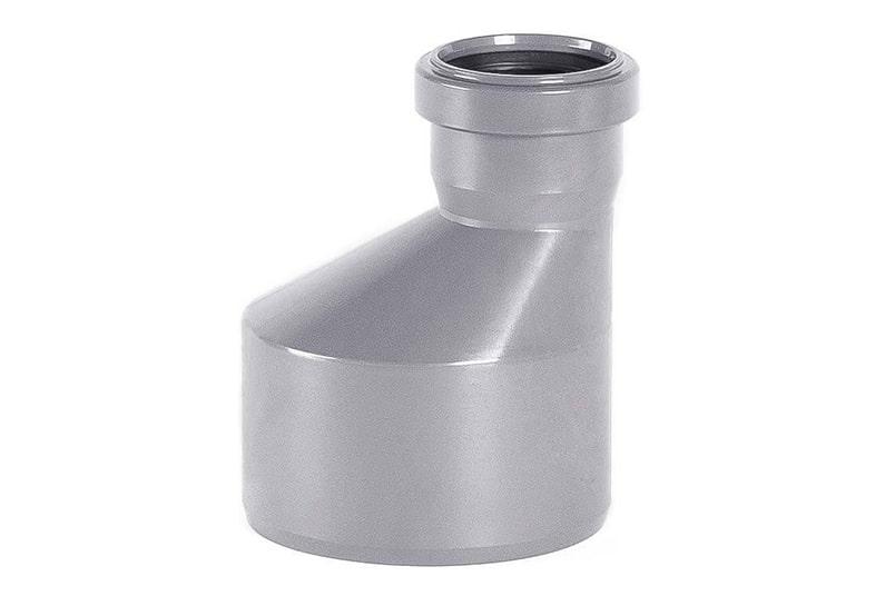 Редуктор ПВХ эксцентрический для внутренней канализации