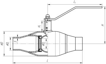Кран шаровой под приварку стальной полнопроходной размеры