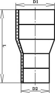 Переход сварной ПЭ 100 SDR 17 размеры