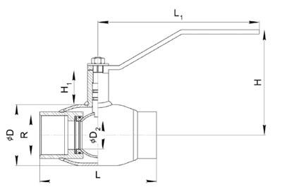 Кран шаровой стандартнопроходной 280 муфтовый размеры