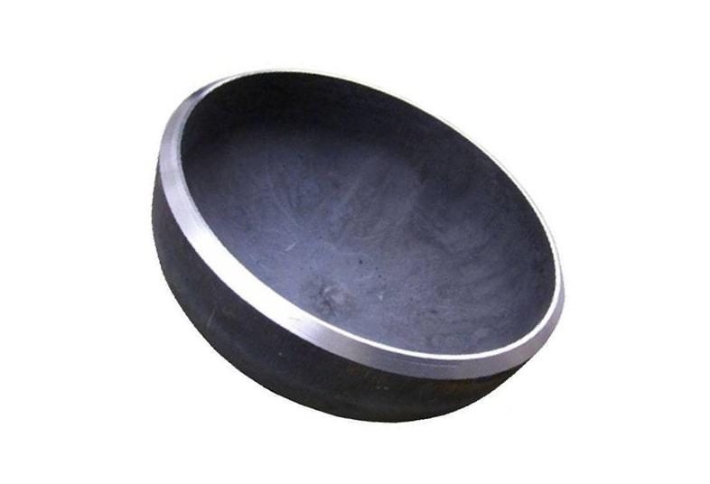 Заглушка стальная черная эллиптическая