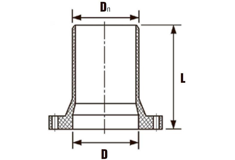 Патрубок НПВХ гладкий с фланцем НПВХ