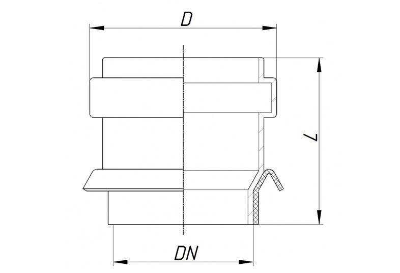 KG2000BA – врезка по месту (бетонная труба, колодец, септик)