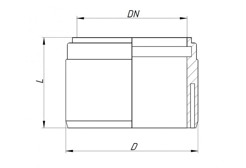 KG2000USM – переходник на раструб керамической трубы