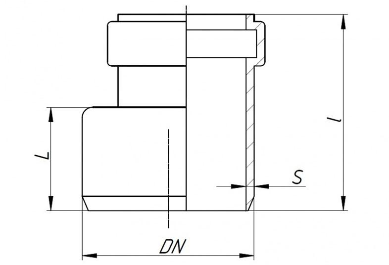 SKR - переход эксцентрический (редукция)