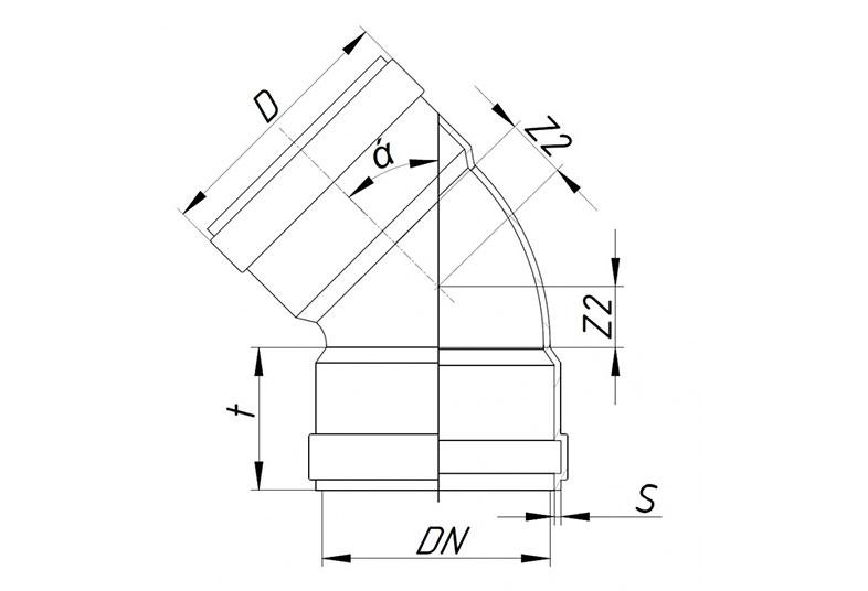 KGBD 2М - Отвод двухраструбный