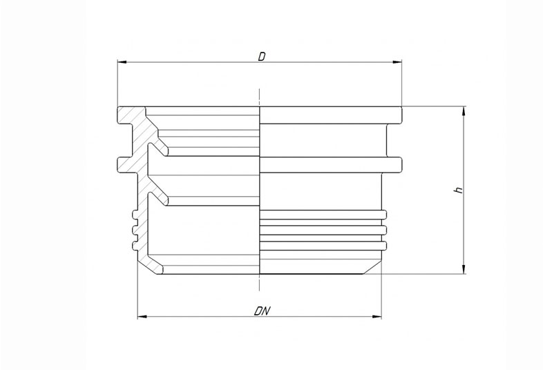 Манжета (редукция) резиновая для раструба
